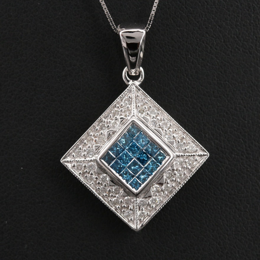 14K 0.50 CTW Diamond Pendant Necklace
