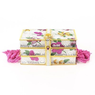Judith Leiber Jeweled Bookstack Minaudière with Accessories