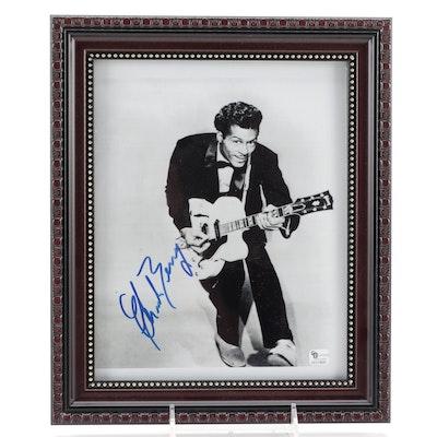 Chuck Berry Signed Legendary Rock-N-Roll Artist Photo Print, COA