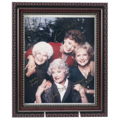 """""""The Golden Girls"""" Signed Television Cast Photo Print, COA"""