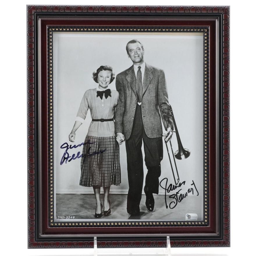 """Jimmy Stewart and June Allison Signed """"The Glenn Miller Story"""" Photo Print, COA"""