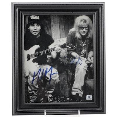 "Dana Carvey and Mike Myers Signed ""Saturday Night Live"" Photo Print, COA"