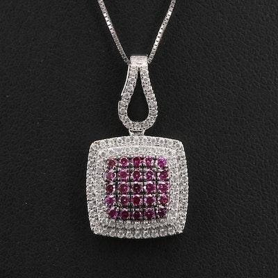 14K 0.87 CTW Diamond Pendant Necklace