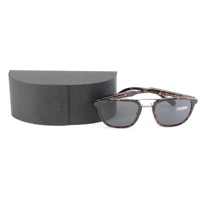 Prada SPR12T Havana Sunglasses with Case and Box