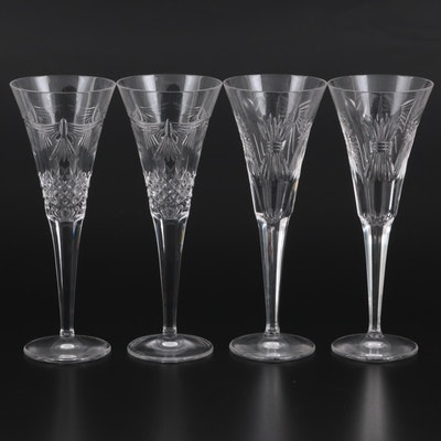 """Waterford """"Millennium Series"""" Fluted Champagne Glasses"""