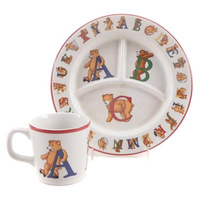 """Tiffany & Co. """"Alphabet Bears"""" Children's Porcelain Dinnerware, 1994"""