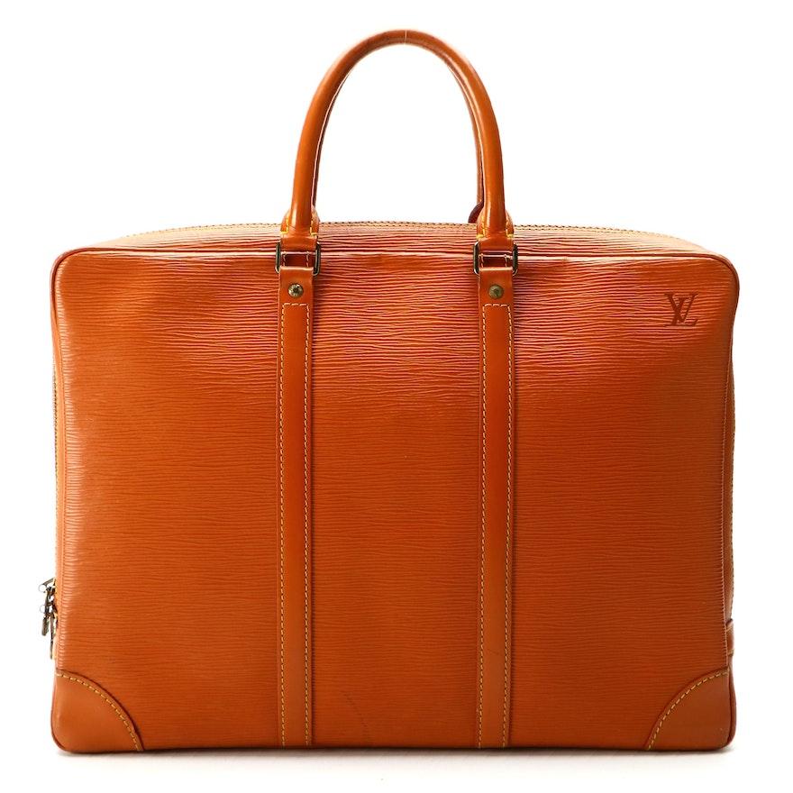 Louis Vuitton Porte-Documents Voyage Briefcase in Cipango Gold Epi Leather