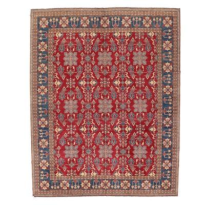 11'5 x 14'10 Hand-Knotted Afghan Kazak Room Sized Rug