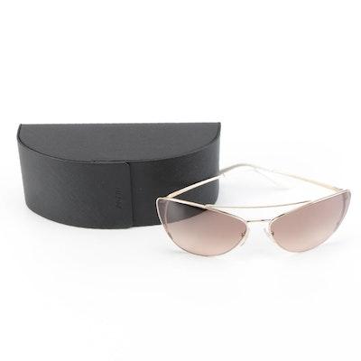Prada SPR65V Modified Cat Eye Sunglasses with Case