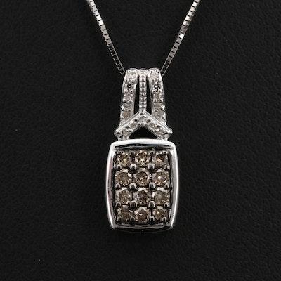 10K 0.40 Diamond Pendant Necklace