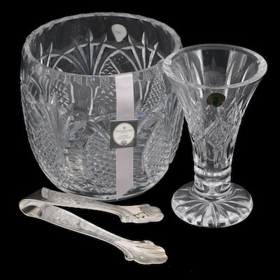 """Waterford Crystal """"Ardmore"""" Vase  and """"Seahorse"""" Classic Collection Ice Bucket"""