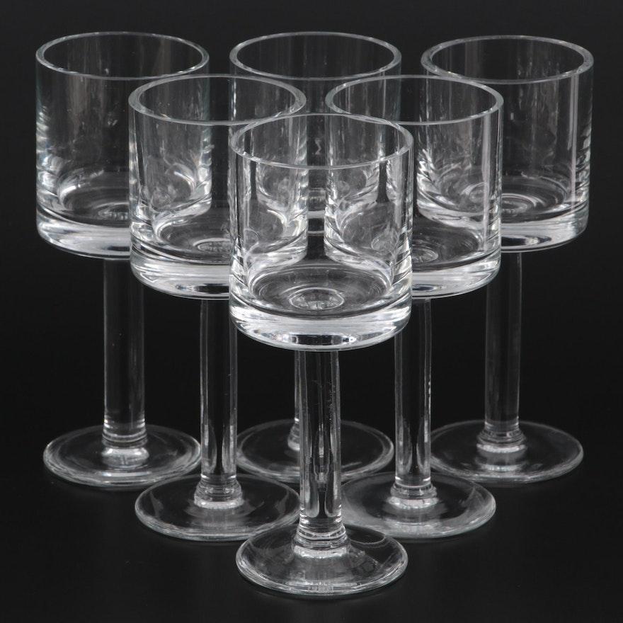 "Calvin Klein ""Bergen"" Crystal Wine Glasses"