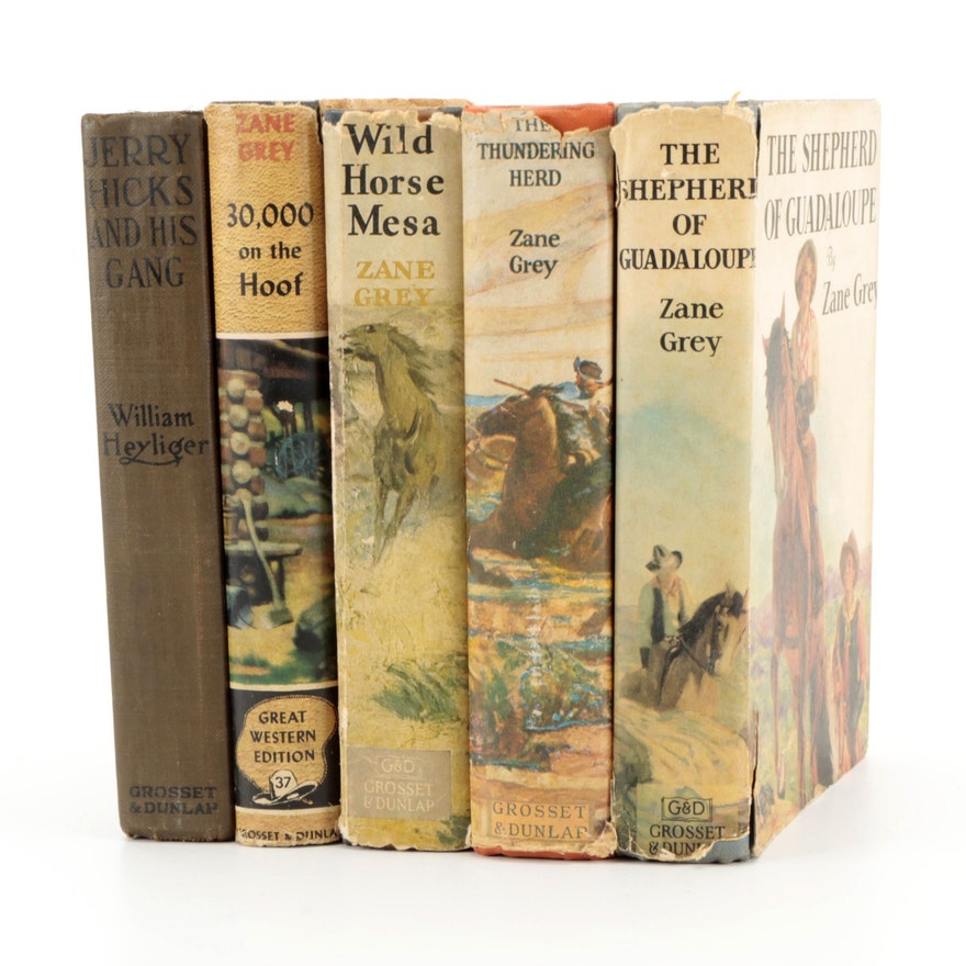 """Wild Horse Mesa"" and More Zane Grey and Adventure Novels"