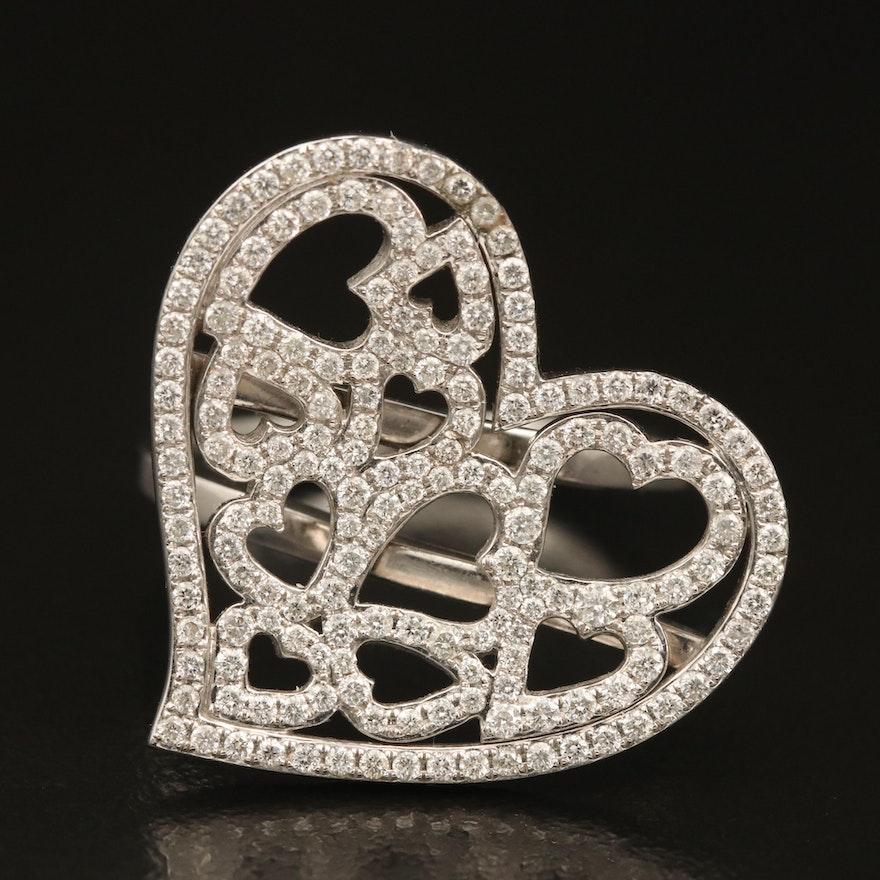 14K 0.70 CTW Diamond Heart Ring