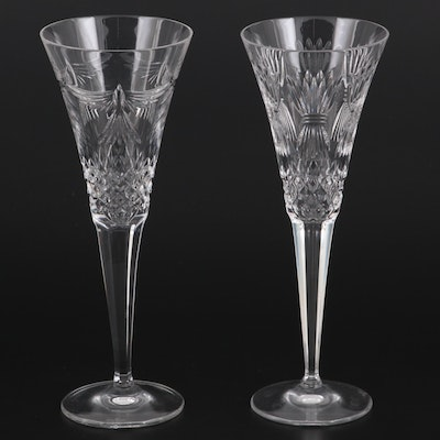 """Waterford """"Millennium Series"""" Crystal Champagne Flutes"""