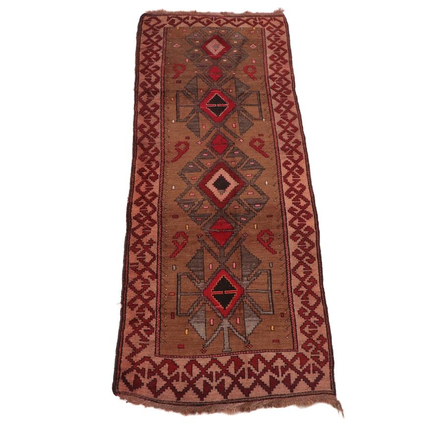 5' x 12'9 Hand-Knotted Turkish Anatolian Long Rug