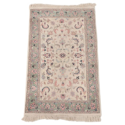 3' x 5'7 Hand-Knotted Indo-Persian Kashan Area Rug