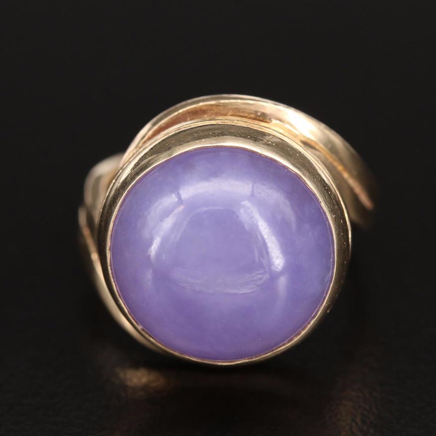 14K Jadeite Bezel Ring