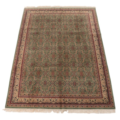 8'10 x 12'9 Hand-Knotted Indo-Persian Kashan Room Sized Rug