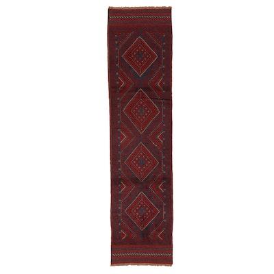 2' x 8'4 Handwoven Afghan Turkmen Mixed Technique Carpet Runner