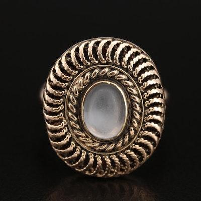 14K Moonstone Openwork Ring