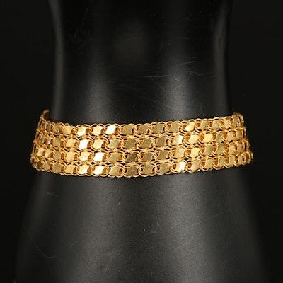 21K Multi-Row Mesh Bracelet