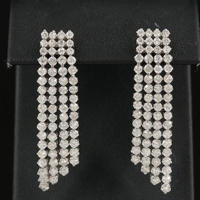 14K 5.40 CTW Diamond Waterfall Earrings