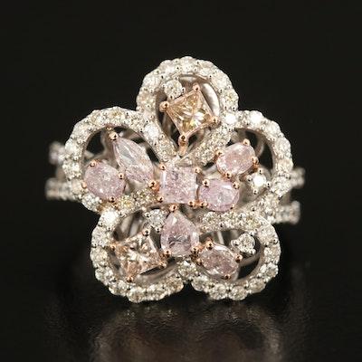 18K 2.01 CTW Diamond Flower Ring