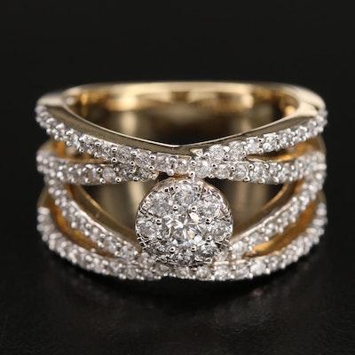14K 1.00 CTW Diamond Openwork Ring