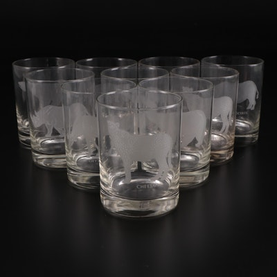 "Georg Jensen ""Endangered Species"" Etched Glass Drinkware"