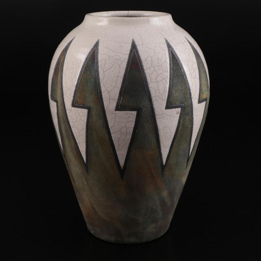 Raku Studio Art Pottery Vase