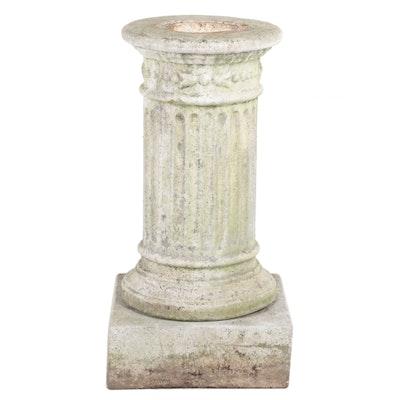 Cast Cement Columnar Pedestal and Plinth Base