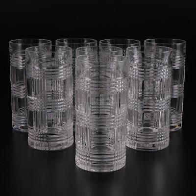 """Ralph Lauren """"Glen Plaid"""" Crystal Highball Glasses"""