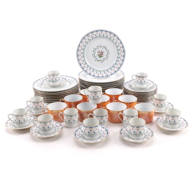 """Céralene A. Raynaud  """"La Fayette""""Dinnerware with Other Limoges Cups"""