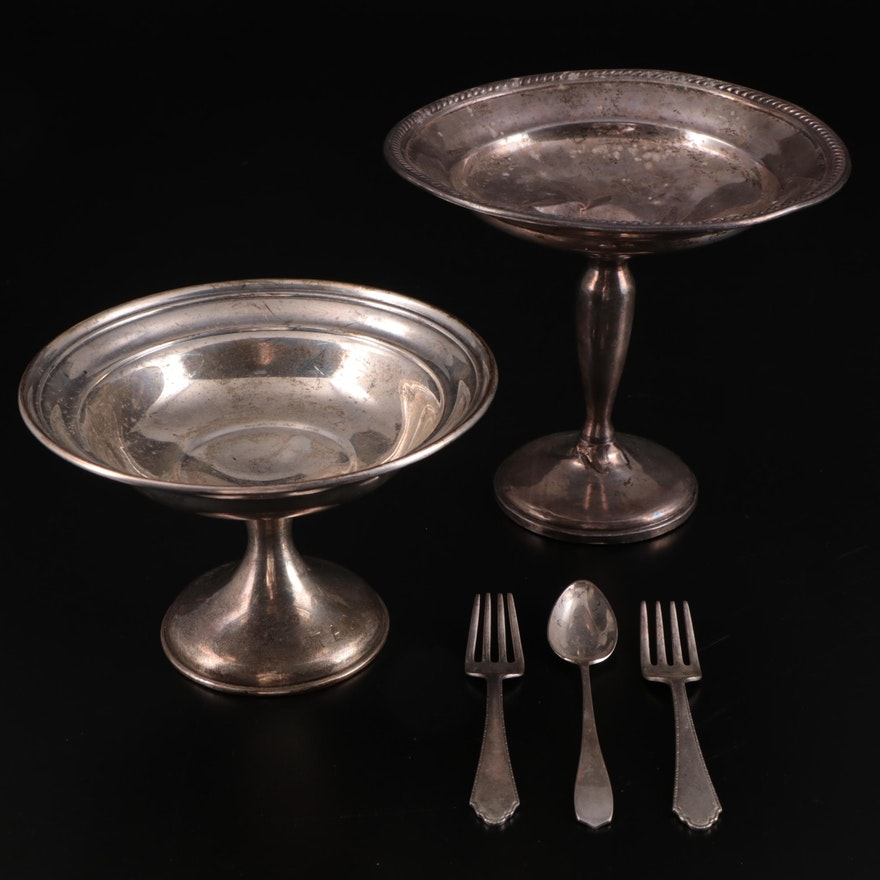 Mueck-Carey Co. with Gorham Sterling Silver Compotes, and Children's Flatware