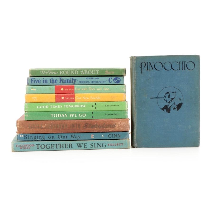 """Pinocchio"" by Carlo Collodi and More Children's Books, Early/Mid-20th Century"