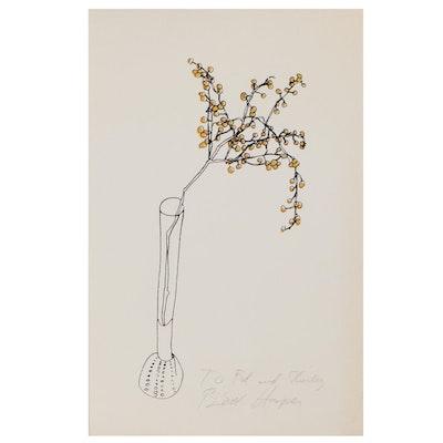 Brett Harper Floral Still Life Serigraph