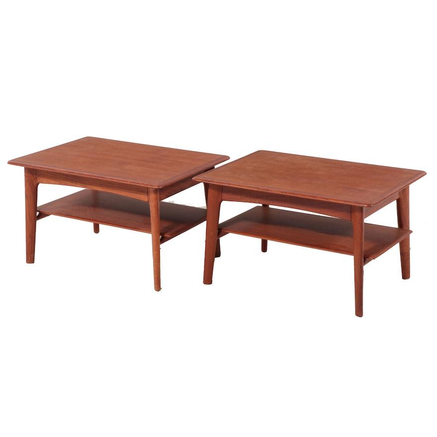 Pair of Svend Madsen Danish Modern Teak Side Tables, Mid-20th Century