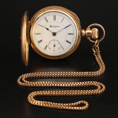1888 Hampden Gold Filled Pocket Watch