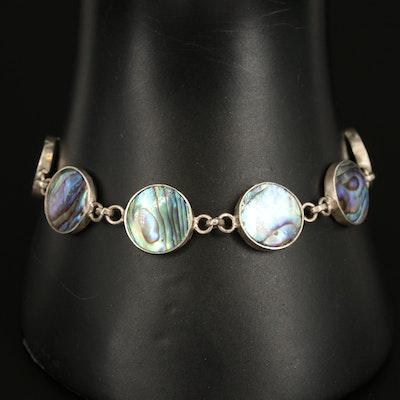 Sterling Abalone Doublet Bracelet