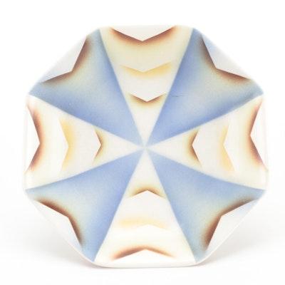 Bauhaus Style Villeroy & Boch Mettlach Spritzdekor Ceramic Bowl, Early 20th C.