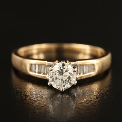 14K 0.76 CTW Diamond Ring