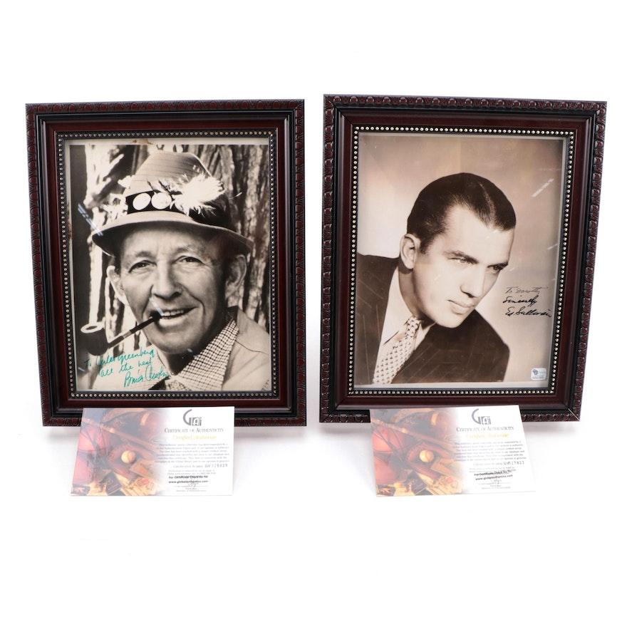 Ed Sullivan and Bing Crosby Signed Celebrity Photo Prints, COAs