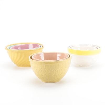 McCoy and Other Earthenware Mixing Bowls, Mid to Late-20th Century