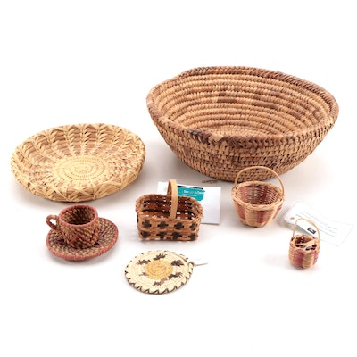 Cherokee Handcrafted Baskets with Other Baskets