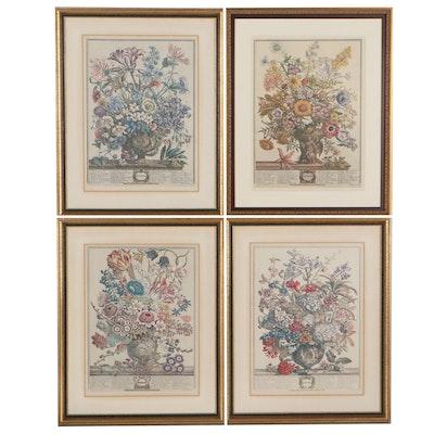 "Offset Lithographs After Pieter Casteels ""Twelve Months of Flowers"""