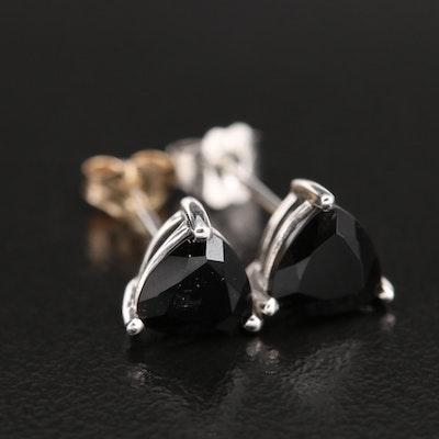 10K Gold Black Onyx Stud Earrings