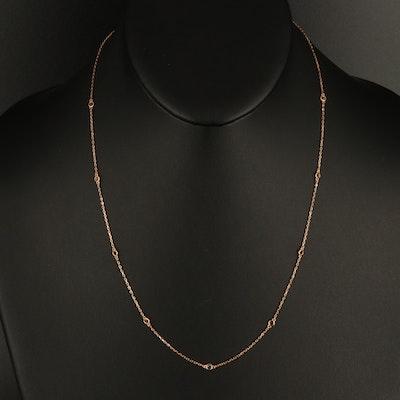 18K 0.27 CTW Fancy Black Diamond Station Necklace
