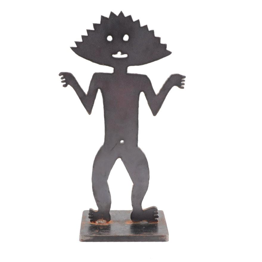 Figural Base Metal Sculpture, Circa 2000
