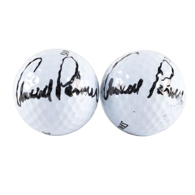 Pair of Arnold Palmer Signed Spalding Golf Balls
